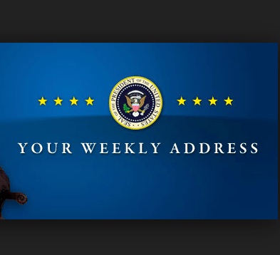 weekly address whitehouse